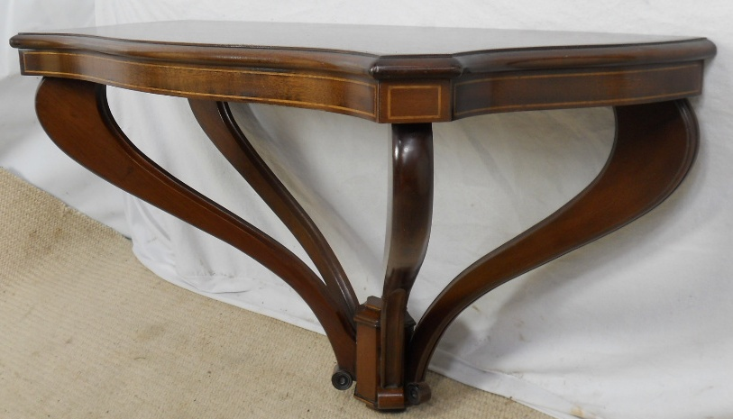 Inlaid Mahogany Console Table   SOLD